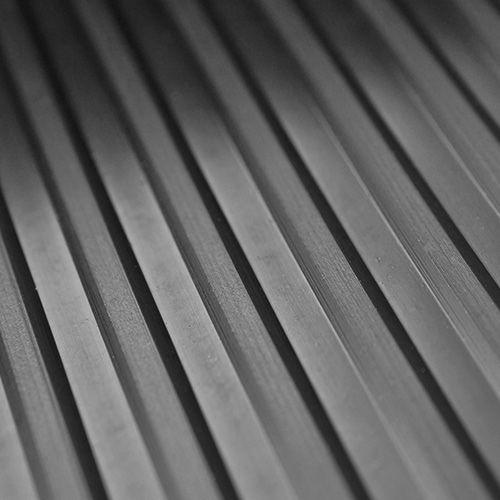 Breitriefenmatte 3mm | 1,0m Breite | Schwarz