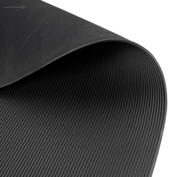 Feinriefenmatte 3 mm | 1,0 m Breite | Schwarz