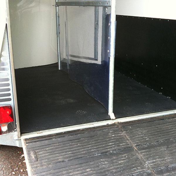 4,95 m² Anhänger Bodenbelag | 1,65 x 3,00 m | 8 mm | für Pferdeanhänger - Ladefläche Gummimatte (HS)