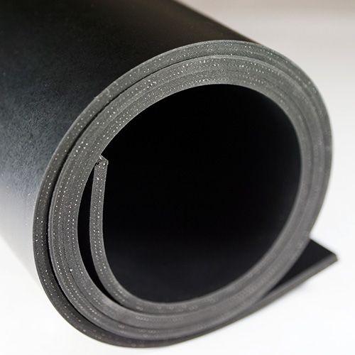 Gummiplatte 5mm | NR/SBR | mit Einlage | 1,2m Breite | Schwarz