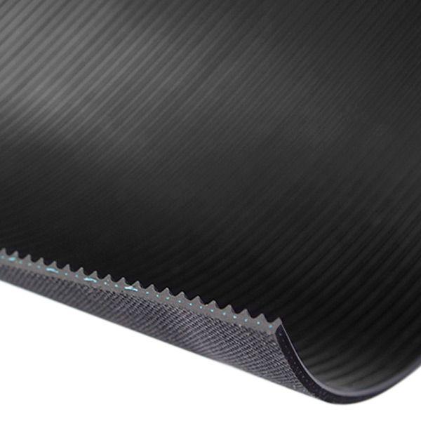 Feinriefenmatte mit Einlage 3 mm | 1,0 m Breite | Schwarz