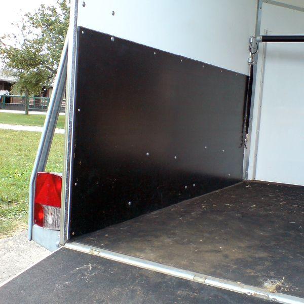 Seitenwandschutz | 4mm | 2,10 x 0,60m | schwarz | Pferdeanhänger