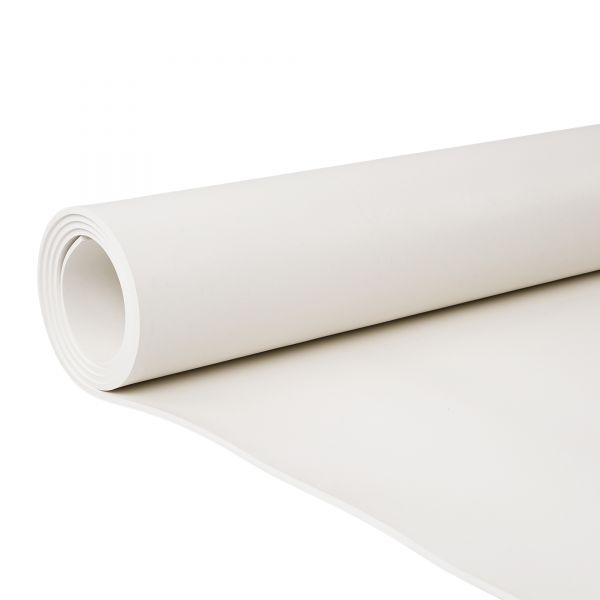 Gummiplatte 1mm | EPDM | 1,4m Breite | Weiss | Lebensmittelecht | Ozon- und witterungsbeständig
