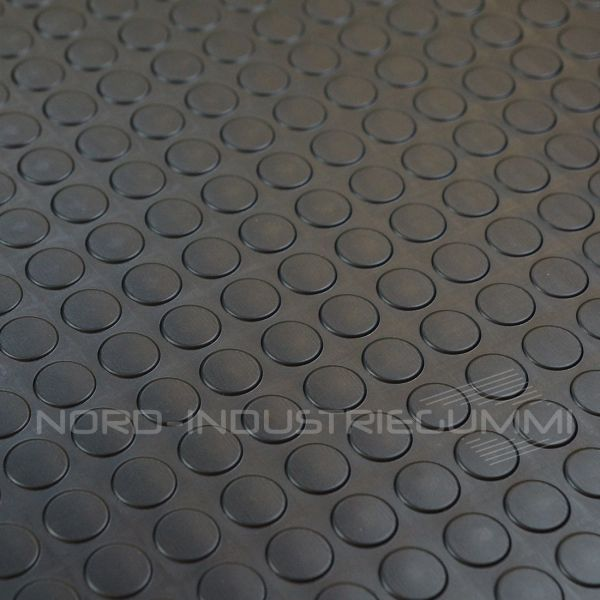 Noppenmatte Premium 3mm | Schwarz | 1,2m Breite