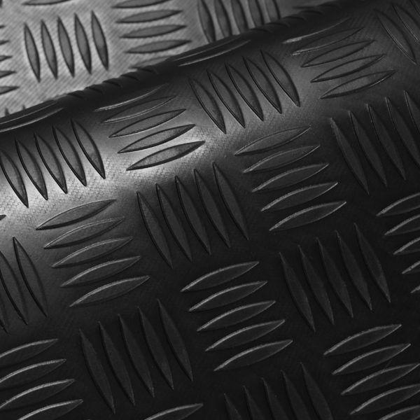 Riffelblechmatte 1,4m Breite | 3mm Stärke | PREMIUM | Schwarz