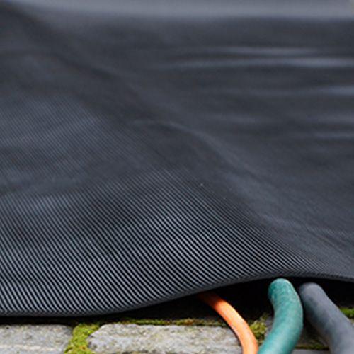 Kabelmatte mit Einlage | 3mm | 0,5m x 10m | schwarz | Feinriefenmatte