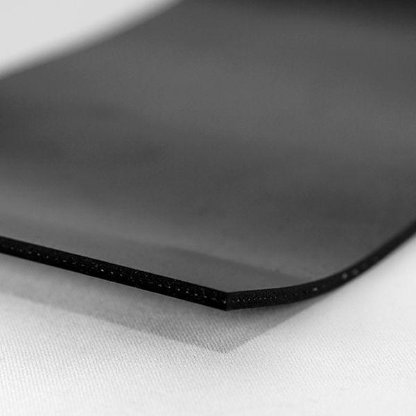 Gummiplatte 4mm | NR/SBR | mit Einlage | 1,2m Breite | Schwarz