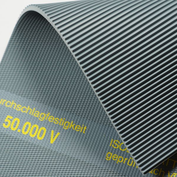 Isoliermatte 50.000 Volt 4,5 mm | 1,0 m Breite | Grau