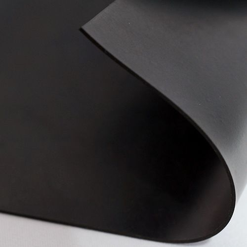 Gummiplatte 1,5mm | NR/SBR | 1,2m Breite | Schwarz
