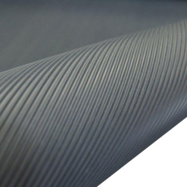 Feinriefenmatte 3 mm | 1,2 m Breite | Dunkelgrau
