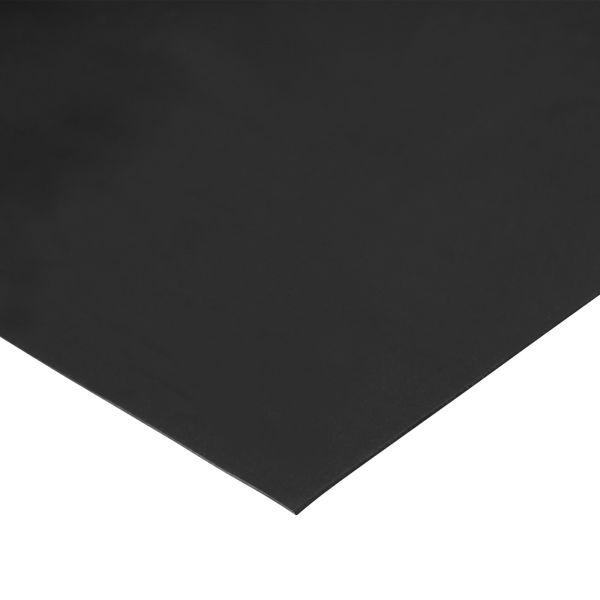 Gummiplatte 1mm | EPDM/SBR | 1,2m Breite | Schwarz